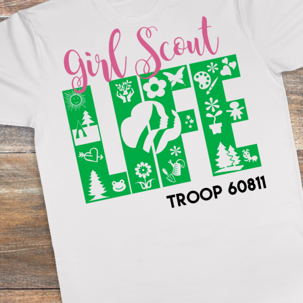 Show your Girl Scout spirit with this customized shirt!