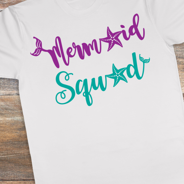 Celebrate a love of all things mermaid with cool customized shirts from Whimsical Design Cuts